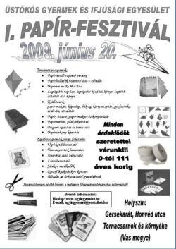 Papírfesztivál Gersekaráton 2009