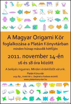 Magyar Origami Kör foglalkozása Budapesten