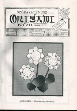 Szórakaténusz Origami Kör 1992/3 magazinja