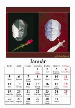 2009-es origami naptár