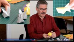 Online origami oktatás - nyuszi, labda/vizibomba, cápa hajtogatás