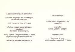 Tolna megyei papírhajtogató pályázat és kiállítás