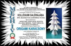 Origami karácsony - kiállítás