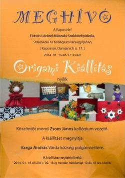 Origami kiállítás