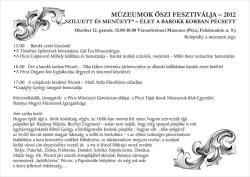 """Múzeumok Őszi Fesztiválja - """"Sziluett és Menüett"""" - Pécs a barokk korban"""