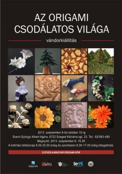Az origami csodálatos világa vándorkiállítás Szegeden