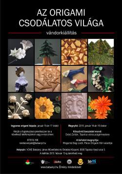 Az origami csodálatos világa vándorkiállítás Tapolcán
