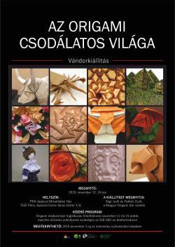 Az origami csodálatos világa vándorkiállítás - Pécs
