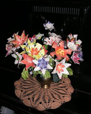 Teatasakos virágcsokor