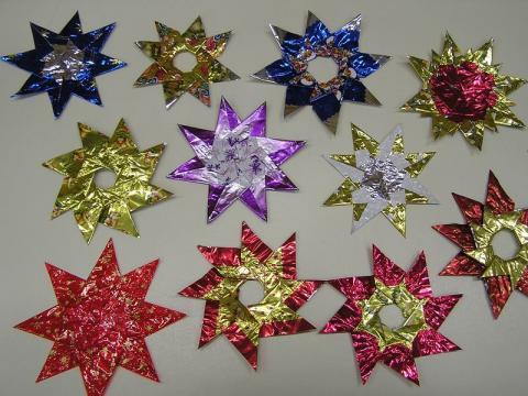 Szaloncukor csillagok karácsonyra