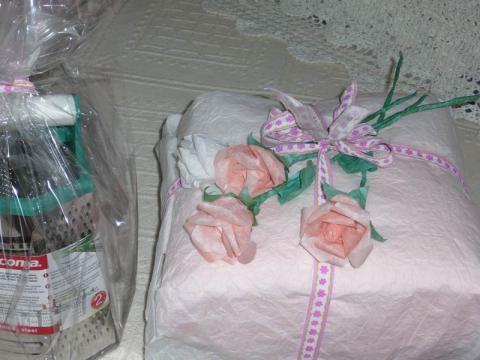 Esküvői ajándék díszítése