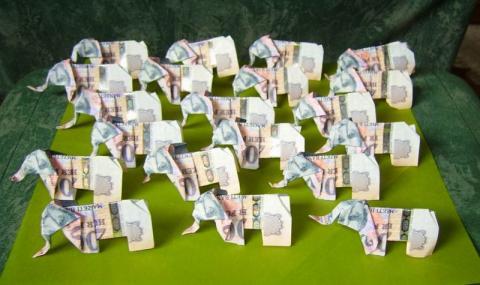 Gulyás Anikó: Elefantcsorda - pénzből
