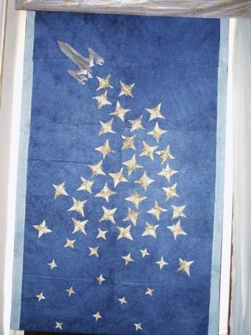 Csillagokat szóró űrhajó