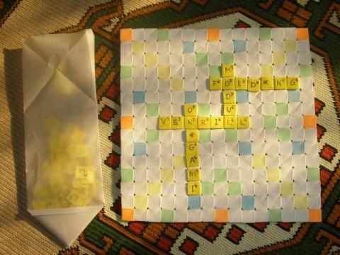 Györfi-Deák György: Scrabble tábla  Verrill-modulból