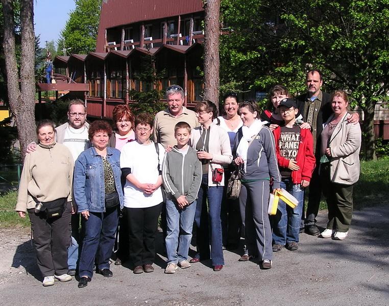 A magyar csapat egy része