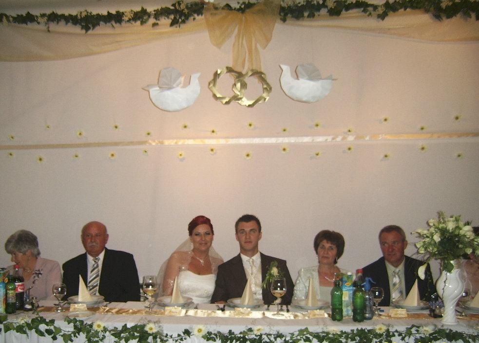 Dekoráció egy esküvőn