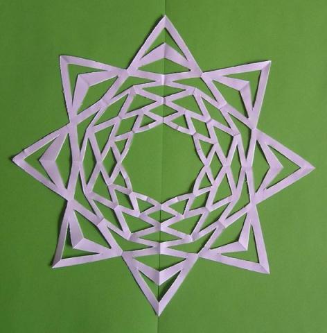 Kivágós-bevágós csillag 2