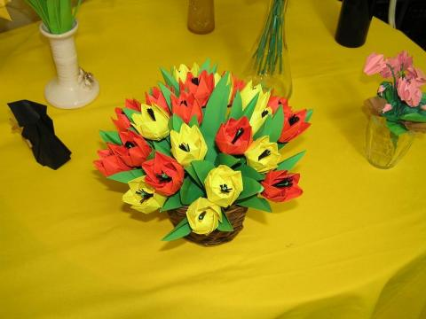 Ácsné Dóczi Éva tulipán csokra