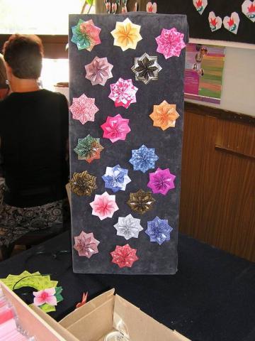 Csillagok a német origamipapír boltnál