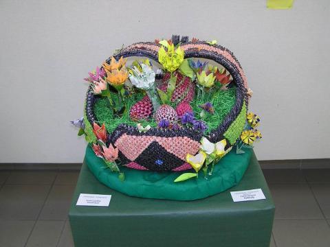 Kovács Gyuláné: Tavaszi virágkosár - Különdíj